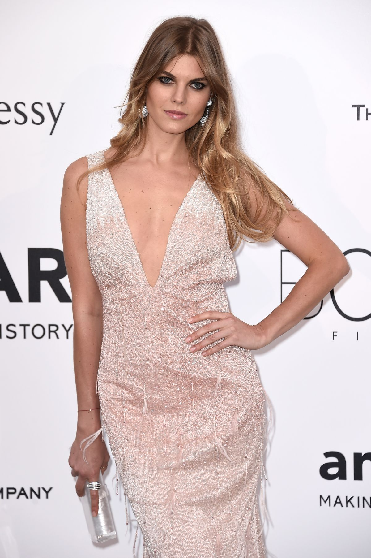 MARYNA LINCHUK at Amfar's 2015 Cinema Against Aids Gala in Cap d'Antibes