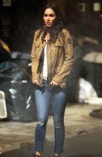 MEGAN FOX on the Set of Teenage Mutant Ninja Turtles 2 in New York 04/30/2015