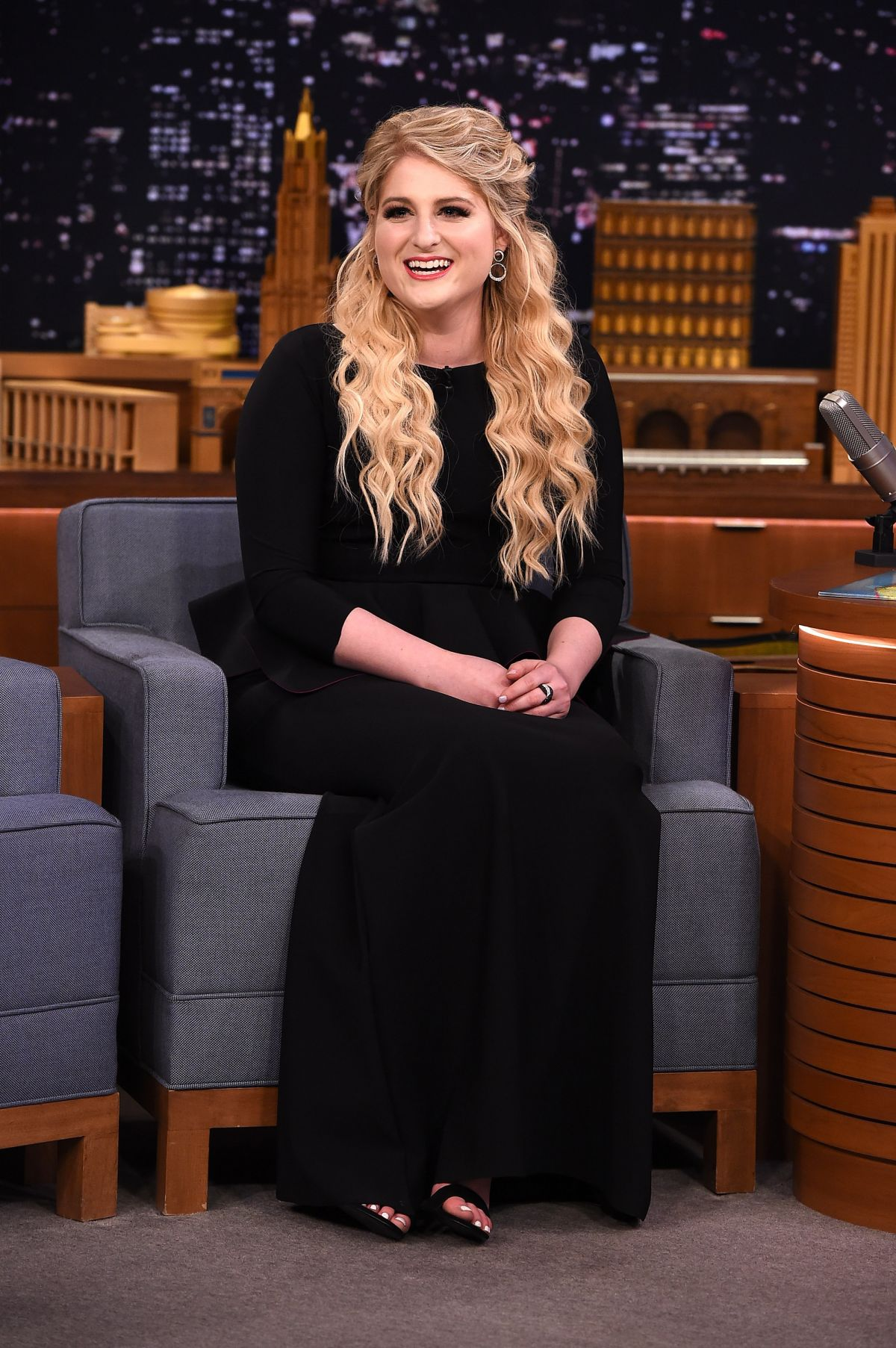 MEGHAN TRAINOR At The Tonight Show With Jimmy Fallon
