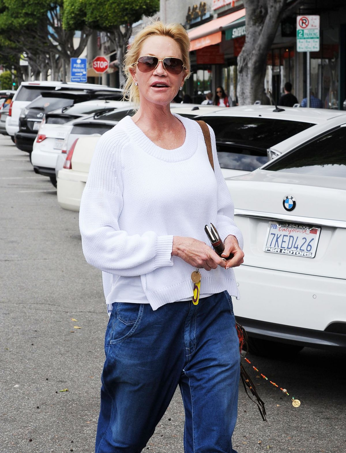 MELANIE GRIFFITH Out and About in Los Angeles 05/07/2015