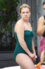 MELISSA JOAN HART in Swimsuit at a Pool in Miami 05/29/2015