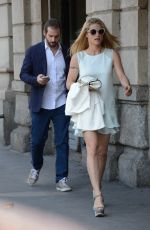 MICHELLE HUNZIKER and Tomaso Trussardi Out and About in Milan 05/10/2015
