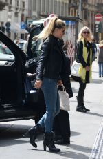 MICHELLE HUNZIKER Out and About in Milan 04/28/2015