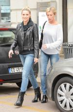 MICHELLE HUNZIKER Out and About in Milan 05/04/2015