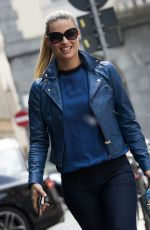 MICHELLE HUNZIKER Out and About in Milan 07/05/2015