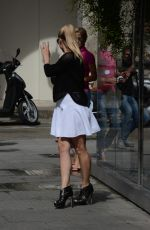 MICHELLE HUNZIKER Out for Lunch at Cafe Trussardi