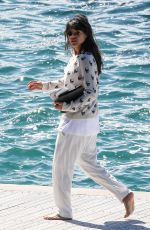 MICHELLE RODRIGUEZ Leaves Hotel Eden Roc in Cannes