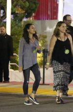 MILA KUNIS Arrives at U2 Concert in Inglewood