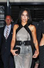 MILEY CYRUS and ZOE KRAVITZ Leaves Surrey Hotel in New York
