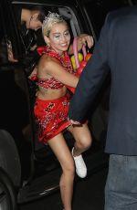 MILEY CYRUS Arrives at 1 Oak Nightclub in New York 05/13/2015
