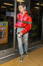 MILEY CYRUS at a Gas Station in Los Angeles 05/27/2015
