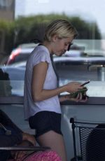 MILEY CYRUS Getting a Coffee in Malibu
