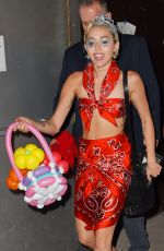 MILEY CYRUS Out and About in New York 05/13/2015
