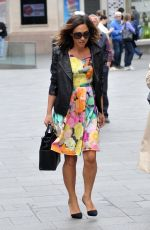 MYLEENE KLASS Out at Leicester Square in London 05/08/2015