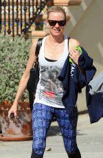 NAOMI WATTS in Leggings Leaves a Gym in Brentwood 04/29/2015