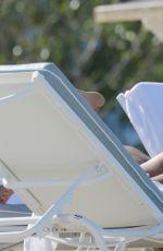NATASHA OAKLEY in White Bikini on the Beach in Miami 05/09/2015