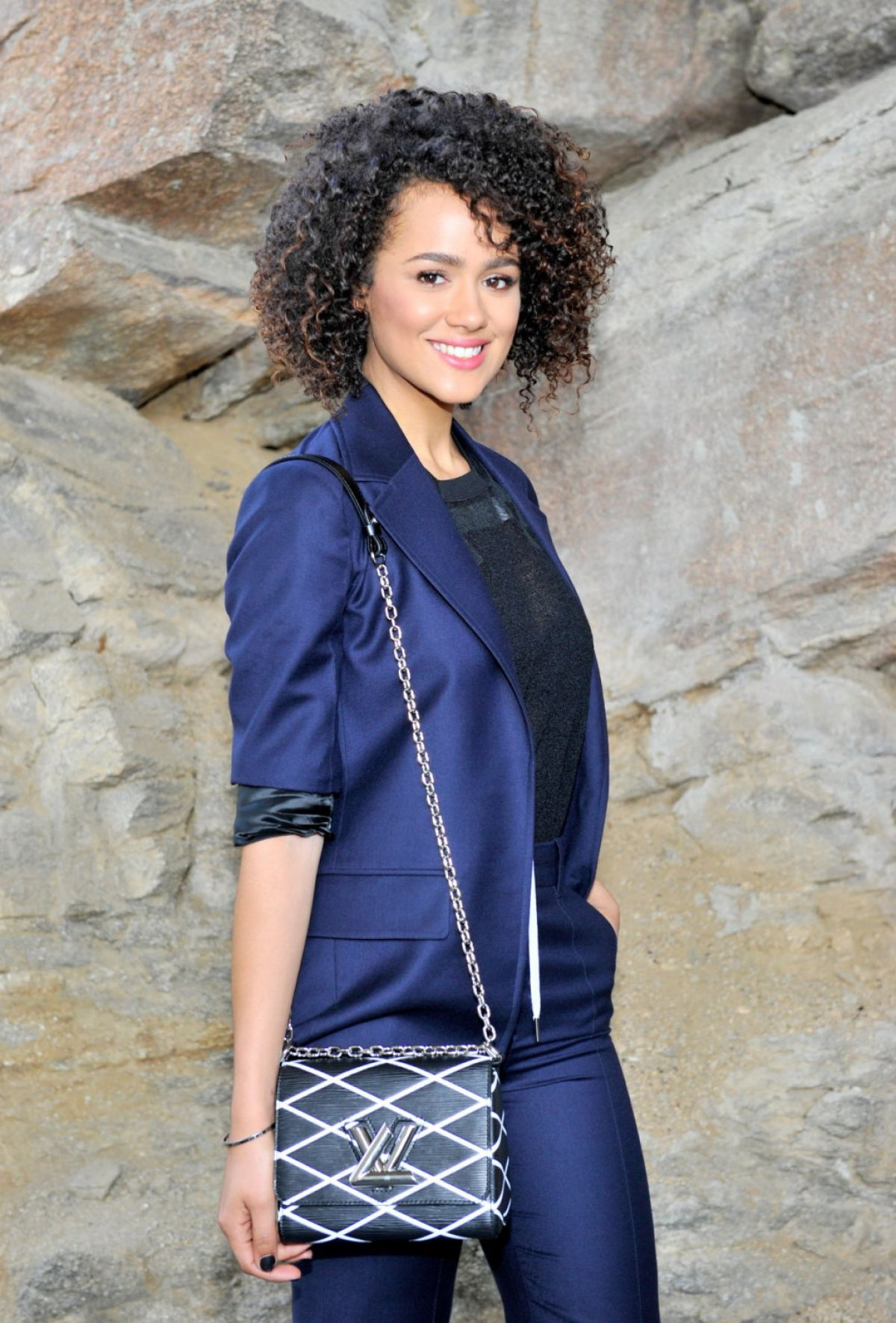 NATHALIE EMMANUEL at Louis Vuitton Cruise 2016 Resort Collection in Palm Springs