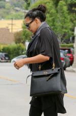 NAYA RIVERA Leraves a Friend in Los Feliz 05/16/2015