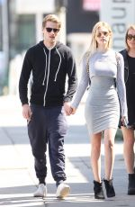 NICOLA PELTZ in Tight Dress Out with Friends in West Hollywood 05/12/2015