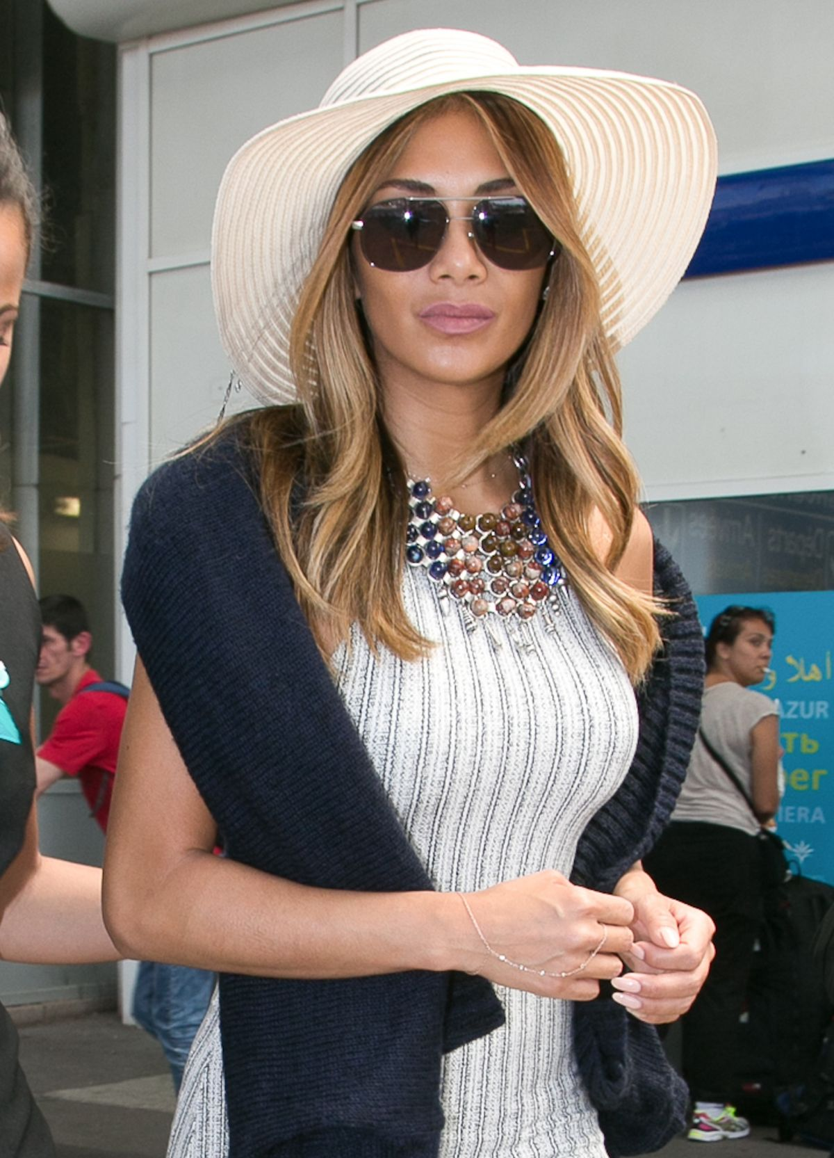 NICOLE SCHERZINGER Arrives at Airport in Nice 05/17/2015