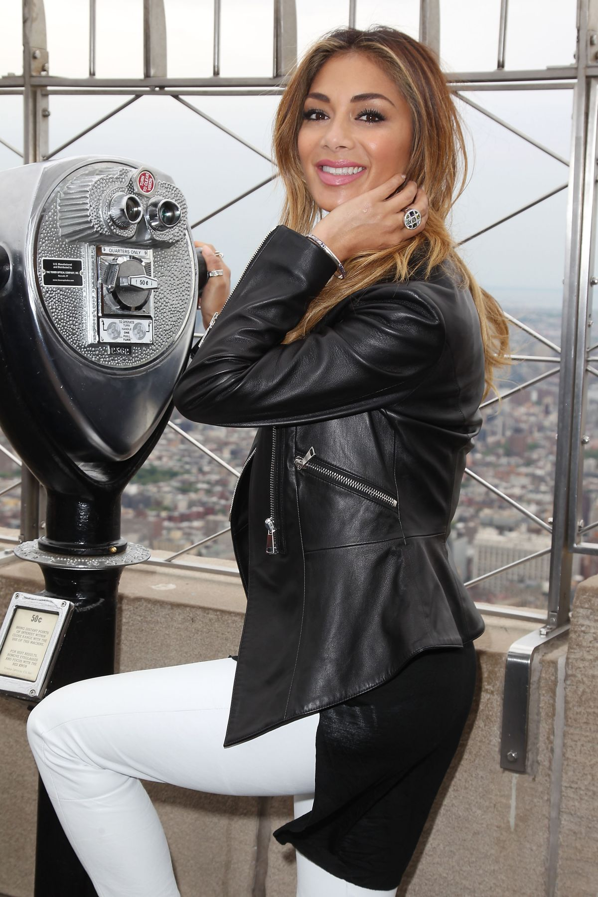 NICOLE SCHERZINGER at Empire State Building in New York 05/21/2015