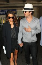 NIKKI REED and Iam Somerhalder at Airport in Nice 05/20/2015