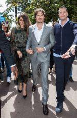 NIKKI REED and Iam Ssomerhalder Walks at Croisette in Cannes 05/21/2015