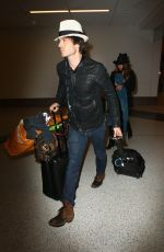 NIKKI REED Arrives at LAX Airport in Los Angeles 05/16/2015