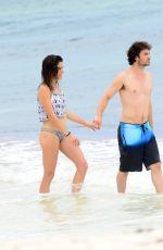 NIKKI REED in Bikini and Ian Somerhalder at a Beach in Tulum