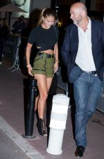 NINA AGDAL Arrives at Martinez Hotel in Cannes