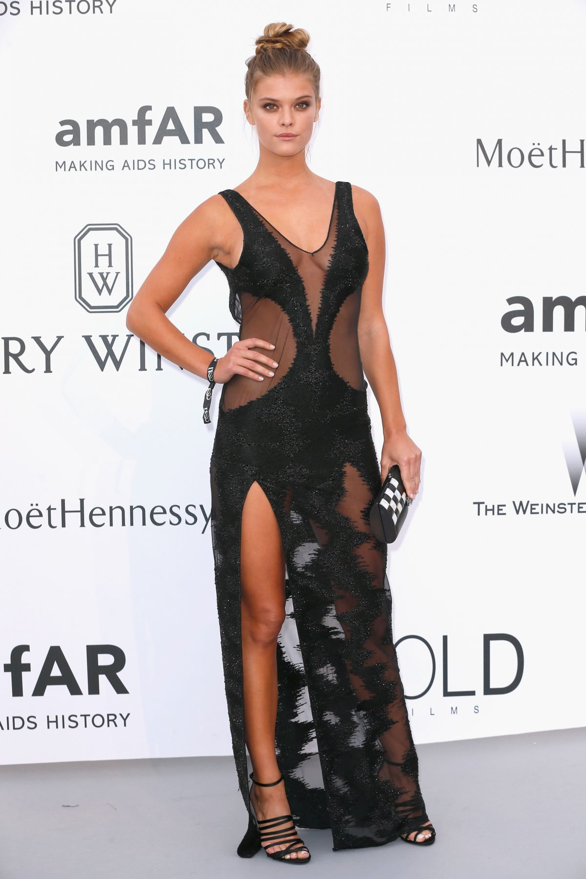 NINA AGDAL at Amfar's 2015 Cinema Against Aids Gala in Cap d'Antibes