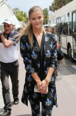NINA AGDAL Out and About in Cannes 05/21/2015