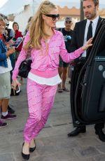 OARIS HILTON Leaves a Yacht in Cannes 05/22/2015