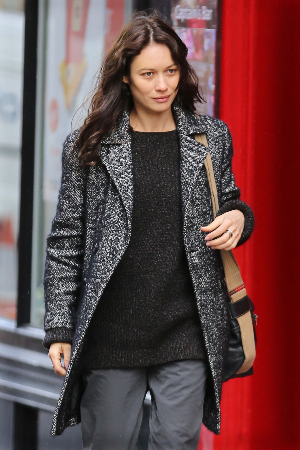 OLGA KURYLENKO on the Set of The Correspondence in Edinburgh 04/29/2015