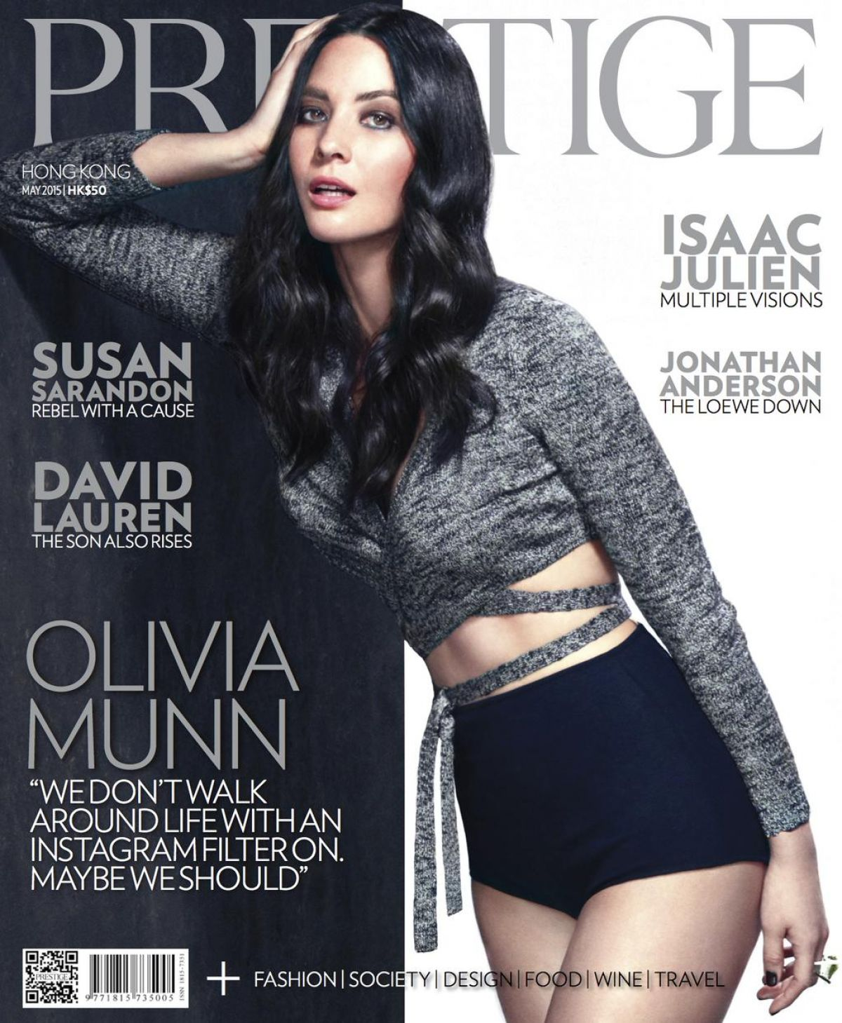 OLIVIA MUNN in Prestige Magazine, Hong Kong May 2015 Issue
