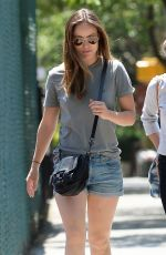 OLIVIA WILDE in Jeans Shorts Out and About in Brooklyn 05/29/2015