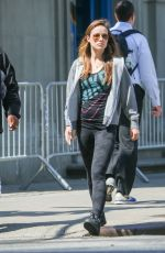 OLIVIA WILDE Out and About in Tribeca in New York 05/04/2015