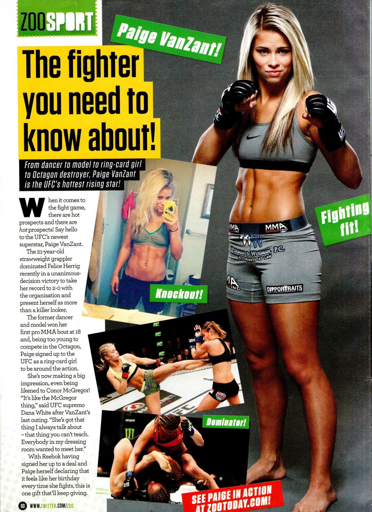 PAIGE VANZANT in Zoo Magazine, 1st may 2015 Issue