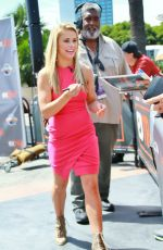 PAIGE VANZANT on the Set of Extra at Universal City