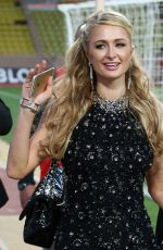 PARIS HILTON Arrives at a Charity Soccer Match in Monaco