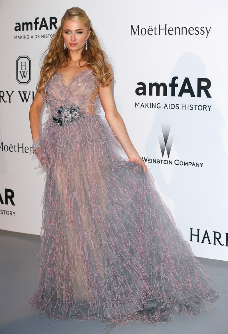 PARIS HILTON at Amfar's 2015 Cinema Against Aids Gala in Cap d'Antibes
