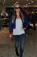 PARIS HILTON at Heathrow Airport in London 05/12/2015