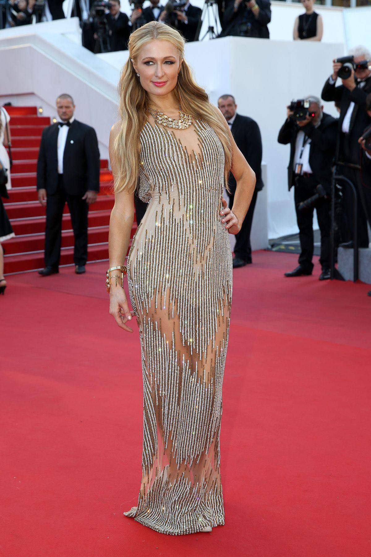 Paris Hilton At Inside Out Premiere At Cannes Film