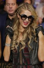 PARIS HILTON at Mayweather vs Pacquiao Boxing Match in Las Vegas