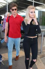 PIXIE LOTT Arrives at Airport in Nice