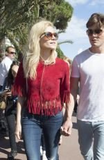 PIXIE LOTT Out and About in Cannes 05/22/2015