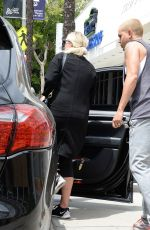 Pregnant ASHLEE SIMPSON Leaves a Gym in Studio City 05/12/2015