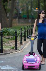 Pregnant HILARIA BALDWIN and Alec Baldwin at a Park in New York