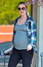 Pregnant LEIGHTON MEESTER Out for Lunch in Los Angeles 05/16/2015