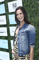 Pregnant ODETTE ANNABLE at 2015 Super Saturday LA in Santa Monica